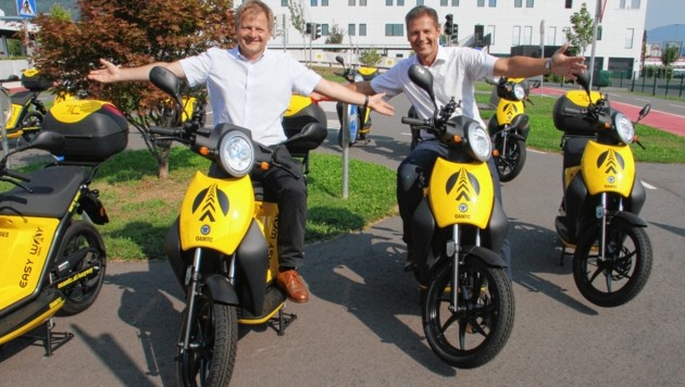 ÖAMTC-Direktor Paul Fernbach (li.) und Hans-Peter Auer (Bild: Jauschowetz Christian)
