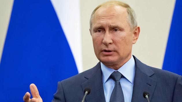 """Kremlchef Wladimir Putin spricht von einer """"streng privaten"""" Reise. (Bild: APA/AFP/POOL/Pavel Golovkin)"""