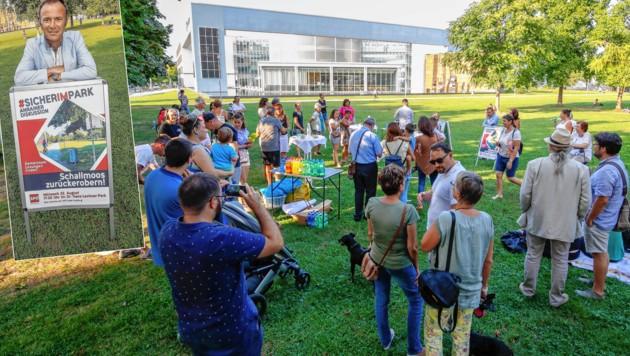 """Anrainer Diskussion: """"Schallmoos zurückerobern"""", so Vizebürgermeister Bernhard Auinger (kl. Foto) (Bild: Markus Tschepp)"""