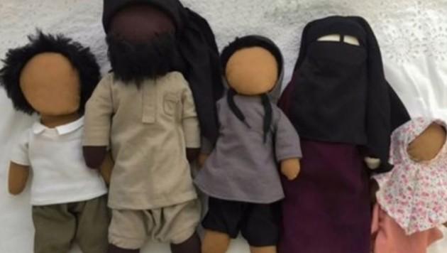"""Salafisten-Puppen"" aus Köln (Bild: twitter.com)"
