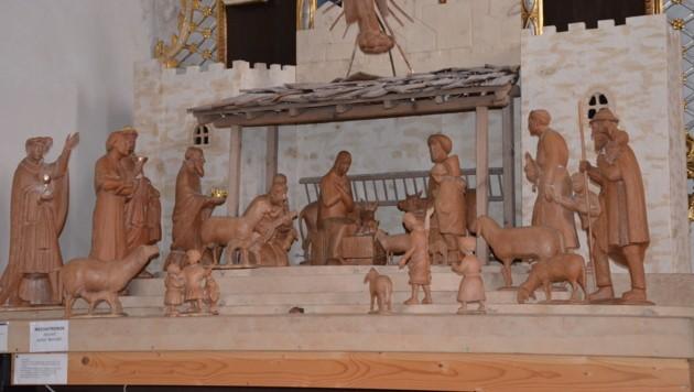 Vor etwa zehn Jahren wurde die Krippe vom Mölltaler Bildhauer Heinrich Untergantschnig geschnitzt. Jetzt wurden wertvolle Figuren gestohlen. (Bild: Josef Granig)