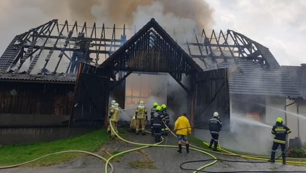 Stundenlang waren die Feuerwehren in Kapfenberg im Einsatz (Bild: FFKP/Karl Heinz Rohrleitner)