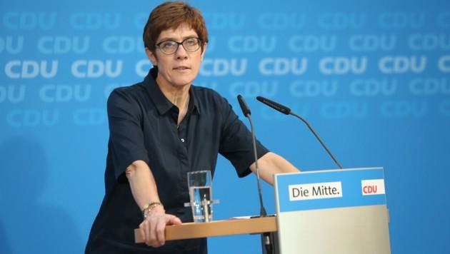 Annegret Kramp-Karrenbauer (Bild: AFP)