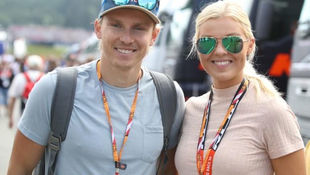 Henrik Kristoffersen mit Freundin Tonje Barkenes (Bild: GEPA)