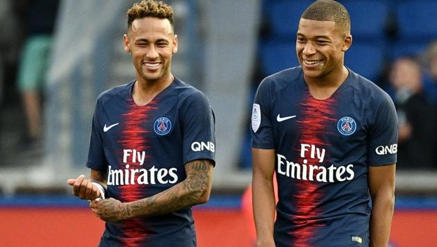 Die PSG-Asse Neymar und Kylian Mbappe