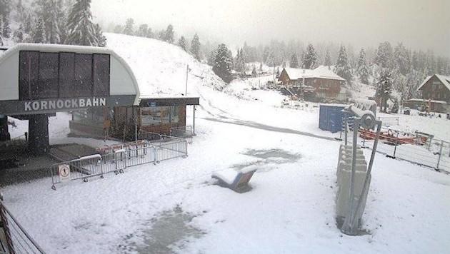 Die Kornockbahn und der Nocky Flitzer fahren heute, 26.8., aufgrund des Schnees nicht. (Bild: AK)