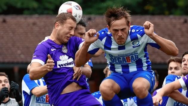 Bergheim entschied das Absteiger-Derby in der 1. Landesliga gegen Hallwang für sich. Foto: ANDREAS TRÖSTER (Bild: ANDREAS TROESTER)