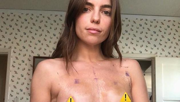 Angela Trimbur zeigt sich mutig oben ohne. (Bild: instagram.com/angelatrimbur)