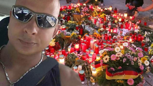 Das Mordopfer Daniel H. (Bild: twitter.com, APA/dpa/Jan Woitas, krone.at-Grafik)