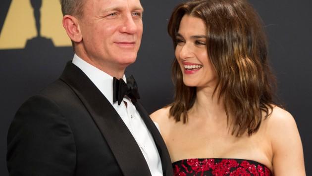 Daniel Craig mit Ehefrau Rachel Weisz (Bild: AFP)