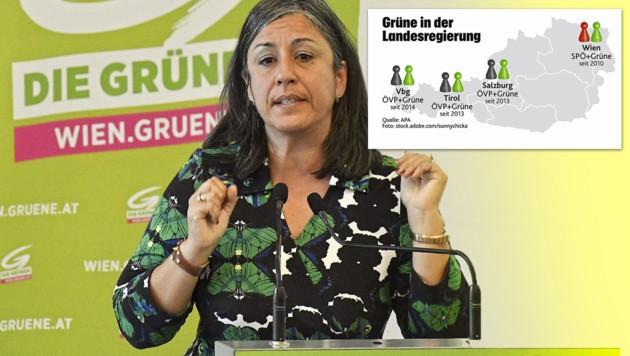Wiens Vizebürgermeisterin Maria Vassilakou hat verkündet, ihr Amt spätestens im Juni 2019 zu übergeben. (Bild: APA, stock.adobe.com/sunnychicka, krone.at-Grafik)