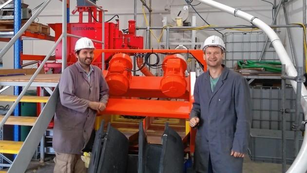 Zwei Spitzenforscher aus Leoben zogen Spitzenförderung an Land: Daniel Schwabl (links) und Markus Bauer. (Bild: Montanuniversität Leoben)