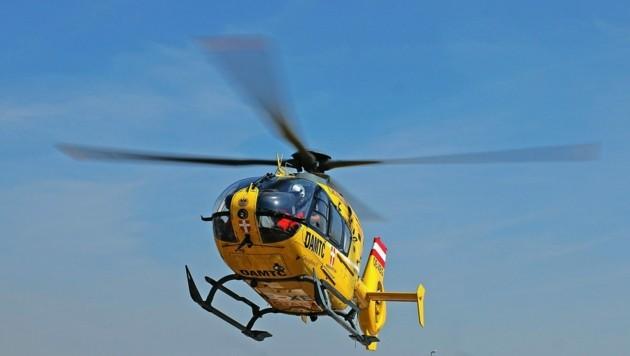 Die Verletzte musste per Rettungshubschrauber ins Spital gebracht werden (Bild: zVg)