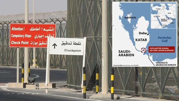 (Bild: saudi-arabien will katar zur insel machen)