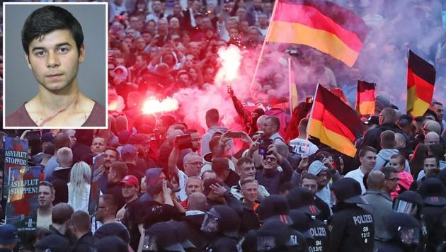 (Bild: APA/AFP/Odd ANDERSEN, Polizei Sachsen)