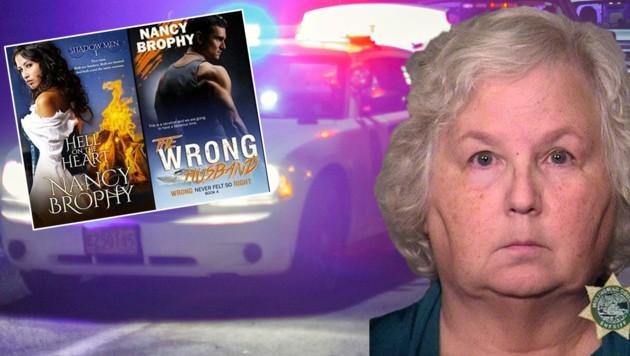 Nach dem Mord an ihrem Ehemann im Juni wurde Autorin Nancy Brophy jetzt in Portland festgenommen. (Bild: AFP/nancybrophyauthor.com/Portland Police)