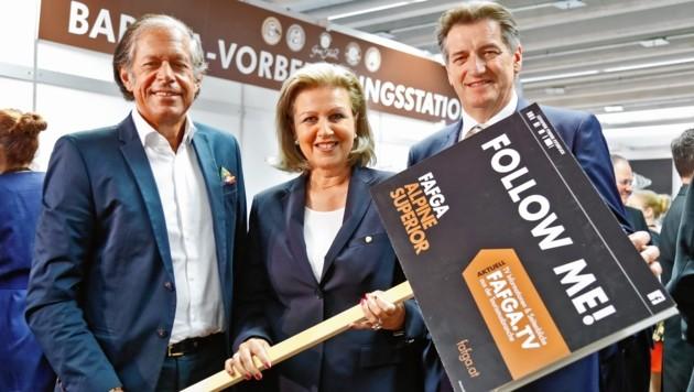 Jürgen Bodenseer, Patrizia Zoller-Frischauf und Josef Hackl (Bild: Christof Birbaumer)