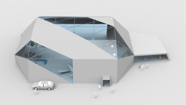 """""""Fabspace"""" wurden die mobilen Hangars getauft. (Bild: Arcitex)"""