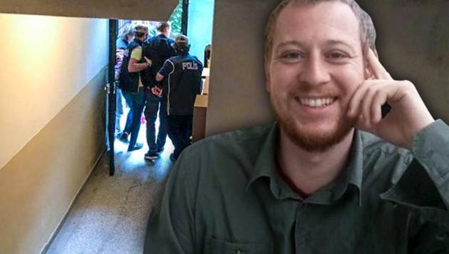 Der österreichische Journalist und Student Max Zirngast saß in der Türkei drei Monate lang im Gefängnis. (Bild: twitter.com, krone.at-Grafik)