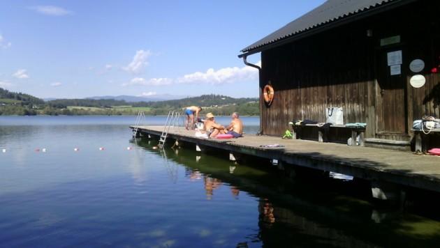 Spätsommer-Idylle am Längsee; das Wasser hat derzeit 22 Grad. (Bild: chipsenpress)