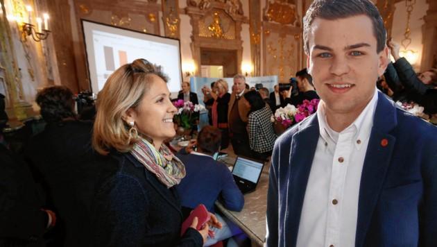 Barbara Unterkofler wurde als Neos-Baustadträtin abgezogen, Lukas Rößlhuber (25) folgt ihr nach (Bild: MARKUS TSCHEPP)