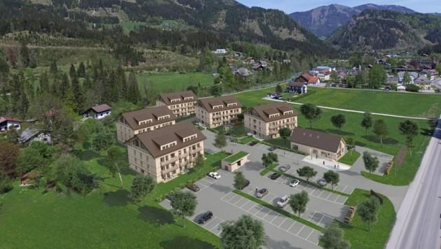Das Aparthotel umfasst fünf Häuser mit 380 Betten. (Bild: Alprima Aparthotel)