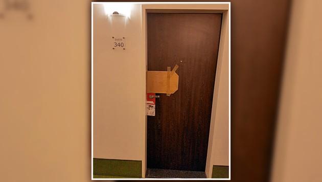 In der Suite 340 wurde die Leiche der jungen Deutschen entdeckt. (Bild: Florian Hitz, krone.at-Grafik)