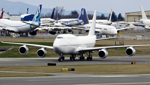 Das ist die erste Boeing 747-8, die im Jahr 2012 ausgeliefert wurde