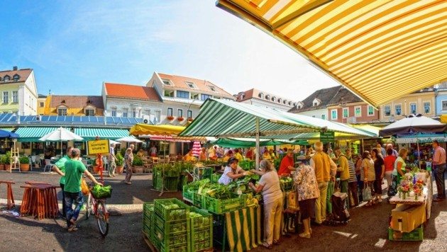 Der Benediktinermarkt in Klagenfurt. (Bild: Tourismusregion Klagenfurt am Wörthersee)