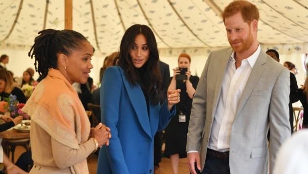 Doria Ragland, Herzogin Meghan und Prinz Harry