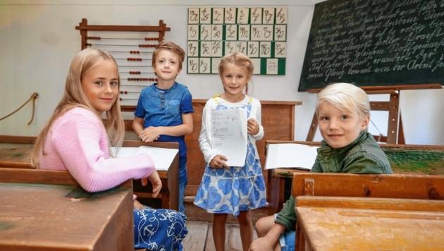 Diese 4 von 60 Kindern erkunden die Welt, abseits ihrer Klassenzimmer und besuchen Lehrmeister. (Bild: Markus Tschepp)