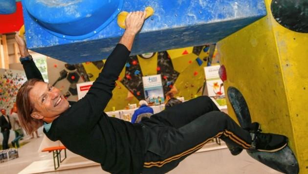 """Personal Trainer Michael Mayrhofer legt sich für die Besucher der """"Sport- und Kulinarik-Messe am kommenden Wochenende richtig ins Zeug. (Bild: Markus Tschepp)"""