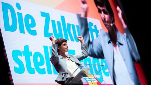 Pamela Rendi-Wagner am Parteitag der SPÖ Niederösterreich (Bild: APA/GEORG HOCHMUTH)