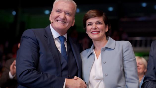 Schnabl und Rendi-Wagner (Bild: APA/GEORG HOCHMUTH)