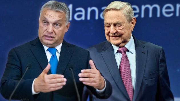 Viktor Orban, George Soros (Bild: APA/AFP/Getty Images, ASSOCIATED PRESS, krone.at-Grafik)
