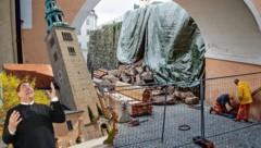 """Die historische Kirchenmauer in Salzburg-Mülln stürzte ein. Pfarrer Franz Lauterbacher: """"Es war wie ein Erdbeben!"""" (Bild: Markus Tschepp/FMT PICTURES)"""