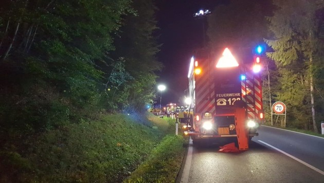 Vier Feuerwehren standen bei dem Unfall im Einsatz. (Bild: FF Fellach)