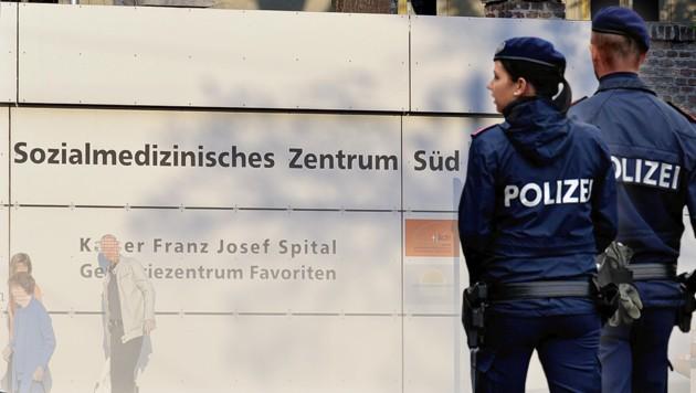 Jetzt Polizeipatrouillen in Wiens Spitälern
