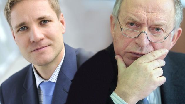 Gottfried Haber, Bernhard Felderer (Bild: APA/Georg Hochmuth, APA/HABER.AT/HELGE BAUER, krone.at-Grafik)