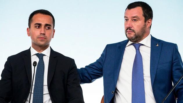 Di Maio wird von Salvini ausgebootet. (Bild: AP)