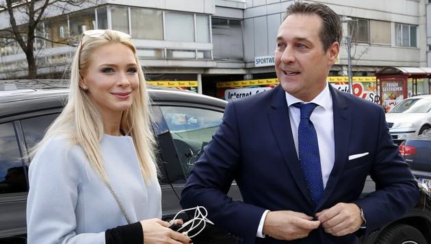 Philippa und Heinz-Christian Strache (Bild: APA/Gert Eggenberger)