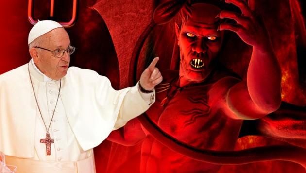 Papst schiebt Teufel die Schuld in die Schuhe