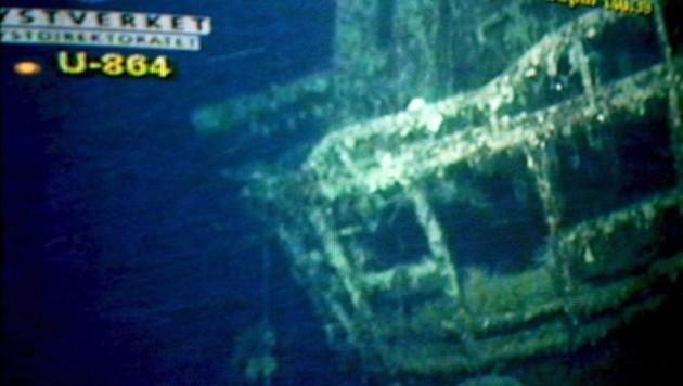 Aufnahmen des Wracks von U-864