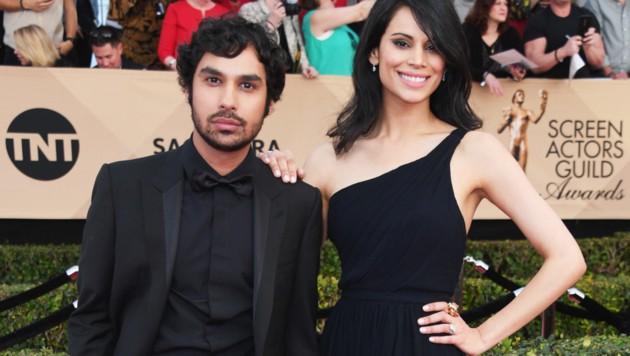 Kunal Nayyar und seine Ehefrau Neha Kapur (Bild: 2017 Getty Images)