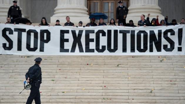 Der Protest gegen die Todesstrafe geht trotz der jüngsten Abschaffung weiter. 30 US-Staaten halten weiterhin an der umstrittenen Bestrafung fest.