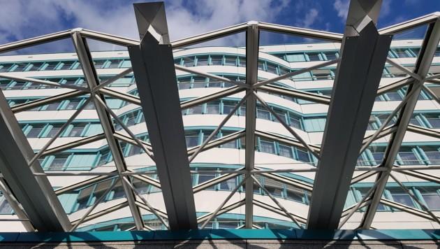 Ein Blick auf das Gebäude der Gebietskrankenkasse in Linz.