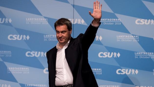 Der bayrische Ministerpräsident Markus Söder liegt derzeit in den Umfragen an der Spitze.