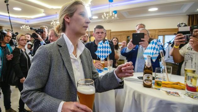 Die stellvertretende AfD-Vorsitzende Alice Weidel in München (Bild: AFP)
