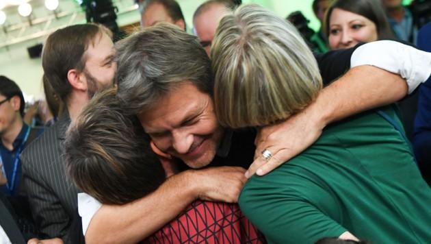 Freude bei den Grünen (Bild: AFP)