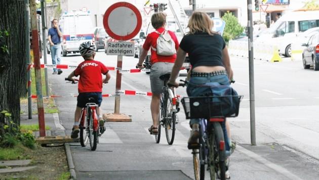 Radfahrer sollen in Graz nun schon bald Vorrang haben. (Bild: KRONEN ZEITUNG)
